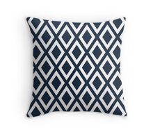 Navy Diamond Pattern Throw Pillow