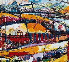 Panaromic Landscape with Divisions(detail one) by Graham Cox