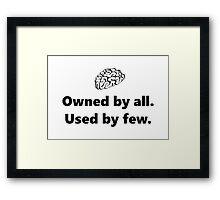 The Brain Framed Print