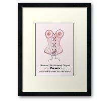 The Wonder Corset Framed Print