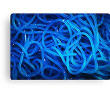 Blue pasta Canvas Print