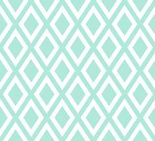 Mint Diamond Pattern by ImageNugget