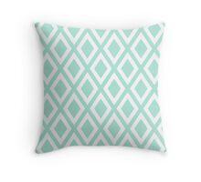 Mint Diamond Pattern Throw Pillow