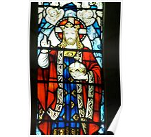 Christ the King window ~ Holy Trinity Anglican Church, Dubbo Poster