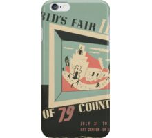 WPA United States Government Work Project Administration Poster 0744 World's Fair IBM Show iPhone Case/Skin