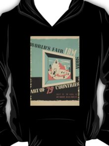 WPA United States Government Work Project Administration Poster 0744 World's Fair IBM Show T-Shirt