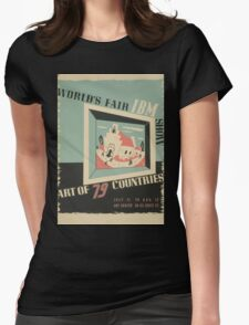 WPA United States Government Work Project Administration Poster 0744 World's Fair IBM Show Womens Fitted T-Shirt