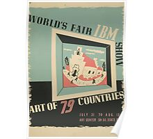 WPA United States Government Work Project Administration Poster 0744 World's Fair IBM Show Poster