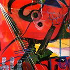 Anthropomorphism 04 Red series. by Michael West