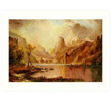 Autumn in Yellowstone Park Art Print