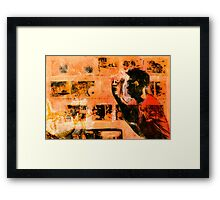 "Tattoo Series "" Tattoo Artist""  Framed Print"