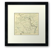 World War II Twelfth Army Group Situation Map September 11 1944 Framed Print