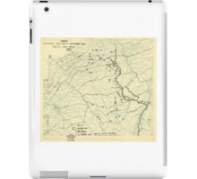 World War II Twelfth Army Group Situation Map September 11 1944 iPad Case/Skin