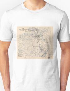 World War II Twelfth Army Group Situation Map November 29 1944 Unisex T-Shirt