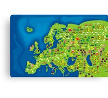 cartoon map of europe Canvas Print
