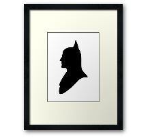 Batman Silhouette Framed Print