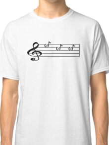 SAX -Words in Music - V-Note Creations SAXOPHONE Classic T-Shirt
