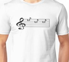 SAX -Words in Music - V-Note Creations SAXOPHONE Unisex T-Shirt
