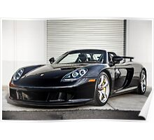 Porsche Carrera GT in Black! Poster