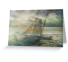 Sailing to the Moon Greeting Card