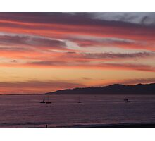 Sunset over Marina del Rey, CA Photographic Print