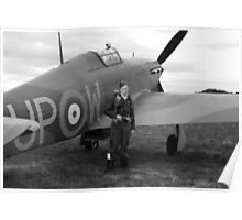WW2 RAF Hurricane Fighter Plane Poster