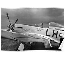 A WW2 P51 Mustang Fighter Plane Poster