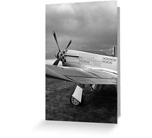 WW2 P51 Mustang Fighter Plane Greeting Card