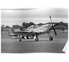 WW2 P51 Mustang Fighter Plane Poster