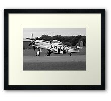 WW2 P51 Mustang Fighter Plane Framed Print
