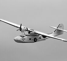 WW2 PBY5 USN Catalina Flying-boat plane by chris-csfotobiz
