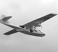 WW2 PBY5 USN Catalina Flying-boat plane by Chris L Smith
