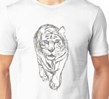 Snow Tiger Hunting Unisex T-Shirt