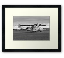 WW2 PBY5 USN Catalina Flying-boat plane Framed Print