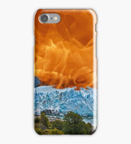 Fire & Ice - Global Warming??? iPhone Case/Skin