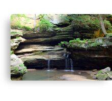 Hocking Hills Area Waterfall 2 Canvas Print
