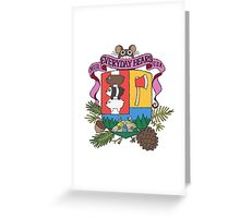 We Bare Bears Coat of Arms! Greeting Card