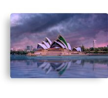 Violet Concerto - The Sydney Opera House, Australia Canvas Print