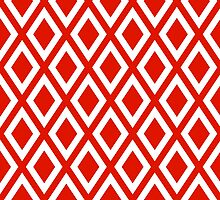 Red Diamond Pattern by ImageNugget