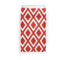 Red Diamond Pattern Duvet Cover