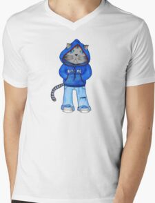 Bad Day Kitty Mens V-Neck T-Shirt