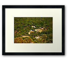 Rural landscape south of Saint Tropez, View from Gassin, FRANCE Framed Print