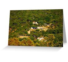 Rural landscape south of Saint Tropez, View from Gassin, FRANCE Greeting Card