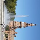 Fountain in Spainish City of Seville by damonsphotos
