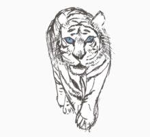Snow Tiger Hunting Logo by AlienEcho