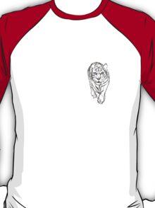 Snow Tiger Hunting Logo T-Shirt