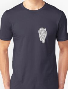 Snow Tiger Hunting Logo Unisex T-Shirt