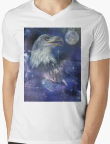 American Eagle - Symbol of Freedom & Independence Mens V-Neck T-Shirt
