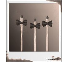 Pictures of Matchstick Men Photographic Print