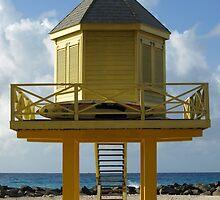 Lifeguard's Beach Hut, Barbados by kimhaz